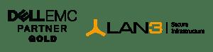 Dell EMC and LAN3 Logos