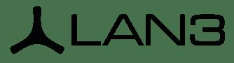 LAN3 logo all black transparent 1473x397